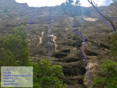 Rock Climbing Photo: A close look at the slab routes, identifiable from...