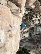 Rock Climbing Photo: Coming up to the chains!