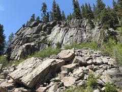Rock Climbing Photo: Crocodile Rock and Overhangtang Boulders