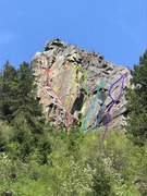 Rock Climbing Photo: Southwest face of Practice Rock 1. Pinnacle Stand...