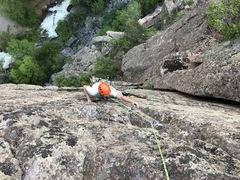 Rock Climbing Photo: Bravery in No Name Canyon.