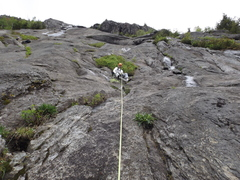 Rock Climbing Photo: The usual first belay point  ... room to sit to be...