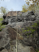 """Rock Climbing Photo: """"Full"""" look at route, 3 tiers, first 2 e..."""