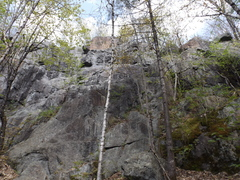 Rock Climbing Photo: The belay spot, top is about 55 ft