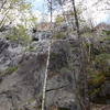 The belay spot, top is about 55 ft