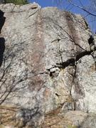 Rock Climbing Photo: The dark streak is ... Mean Streak , nice top anch...