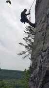 Rock Climbing Photo: Me, hanging on the wall, ready to shoot some actio...