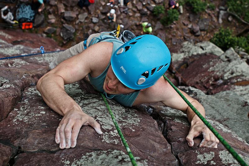 Rock Climbing Photo: Joseph climbing Orgasm