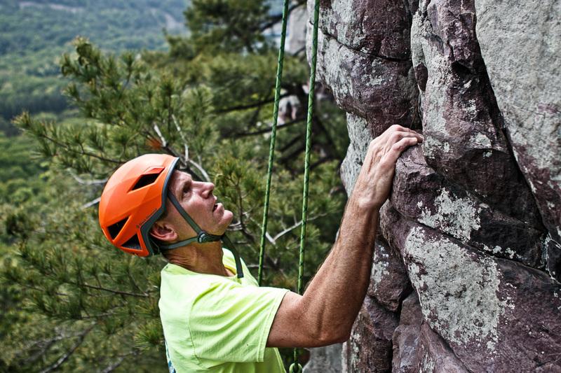 Rock Climbing Photo: Randy nearing the top