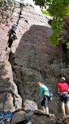 Rock Climbing Photo: Kelly climbing Birch Tree Crack