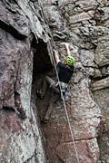 Rock Climbing Photo: Adam on Cerebration