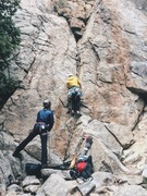 Rock Climbing Photo: Second lead on gear. Solid route.