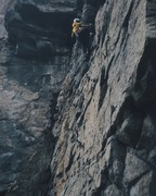 Rock Climbing Photo: Leading up Animation. Solid moves on flawless gran...