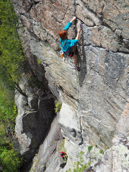 P2 of North Country for Old Men (5.11a), Devil's Washdish.