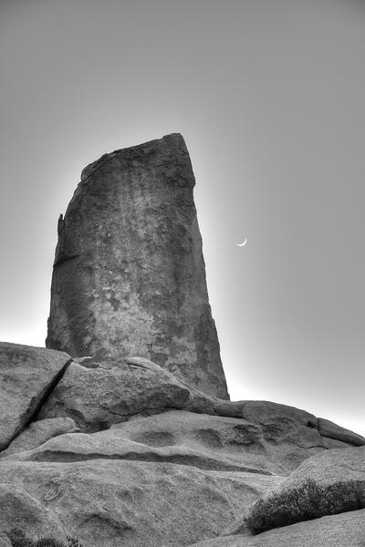 Moonrise over Headstone, Feb 2017.