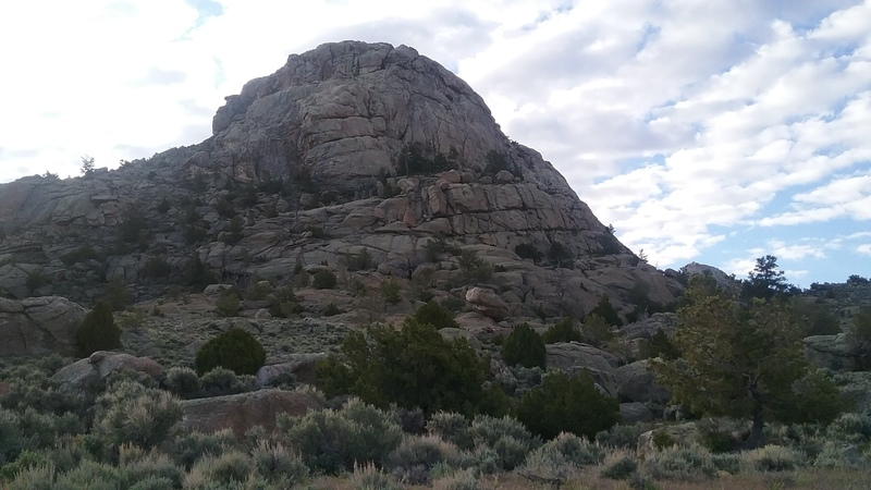 Rock Climbing Photo: Rancher Rock as seen from the end of the two track...