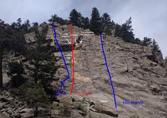 Rock Climbing Photo: Boulderado after 2017 rockfall and scaling.