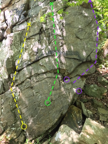 Rock Climbing Photo: Not a great picture but picking out clear coat sho...
