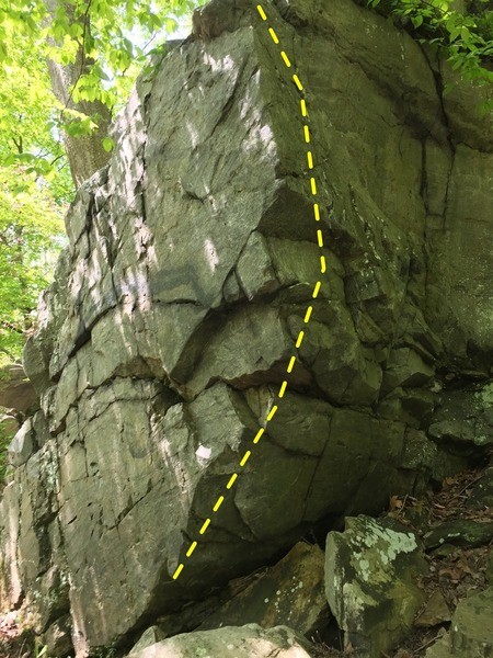 Clearcoat arete, a great climb with a terrible landing.
