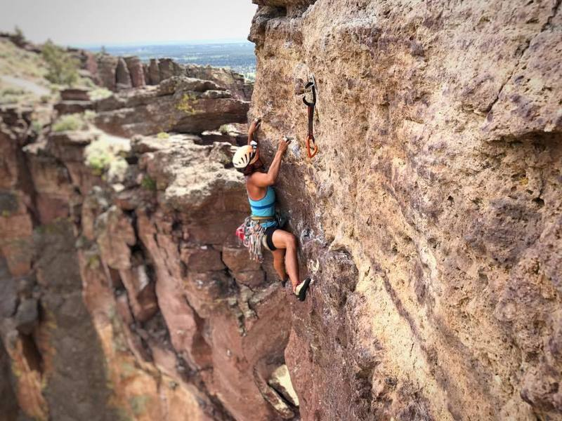 Rock Climbing Photo: Monkey Face, Smith Rock Route: Monkey Off My Back
