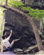 Rock Climbing Photo: Heel hook