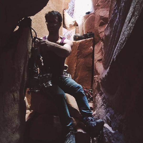 racking up a Escalante in the Interiors Cave