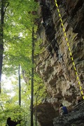 Route to the right of the climber