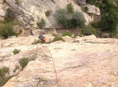 Rock Climbing Photo: Alex turning the roof on Klingon.