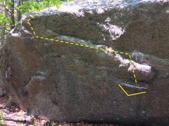 Rock Climbing Photo: Tough route.  At first it looks like there's nothi...