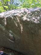 Rock Climbing Photo: Another view - you can kind of see the tough slope...
