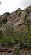 Rock Climbing Photo: Shoes for Industry (5.8+) The roof is the crux. Th...