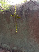 Rock Climbing Photo: Exposure, on the left side of the boulder as you v...
