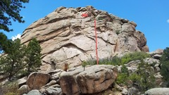 Rock Climbing Photo: Eagle's Nest (5.10-) Fun finger crack moves up to ...
