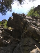 Rock Climbing Photo: Kenley giving 9 pound hammer a rip.