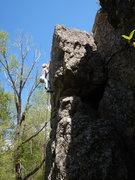 Rock Climbing Photo: Shaylee near the top of the climb.