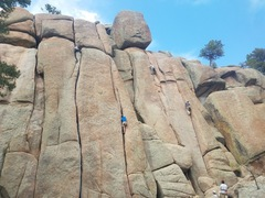Rock Climbing Photo: On any fair weather weekend you can expect some tr...