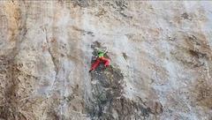 Rock Climbing Photo: above crux