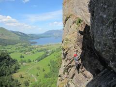 Rock Climbing Photo: Maurice on Black Crag