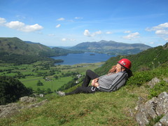 Rock Climbing Photo: On Top of Black Crag ...Borrowdale Valley