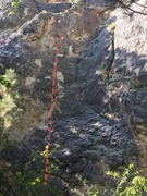 Here is a photo of the route on the wall.