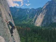 Rock Climbing Photo: Half way up pine line.