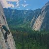 Half way up pine line.