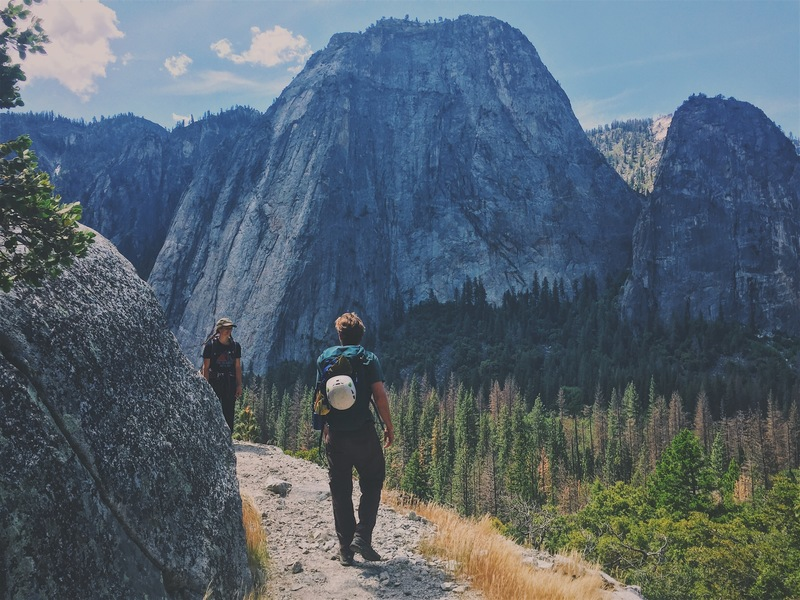 Rock Climbing Photo: The ledge for pine line. The start of the climb is...