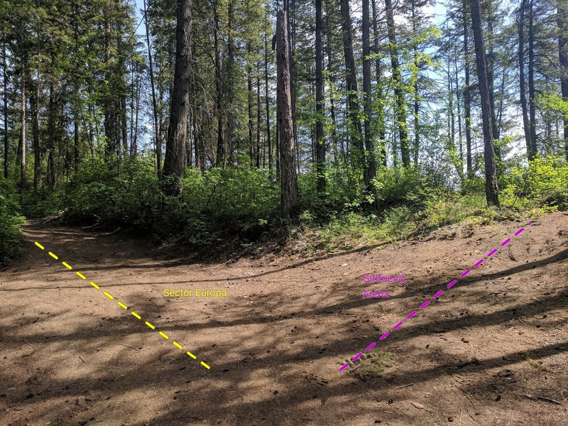 """View from the """"parking lot"""" (read primitive campsite). Follow left trail for Sector Europa, right takes you to The Arena and Girlfriend Wall."""