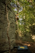 Rock Climbing Photo: Green Block Arete