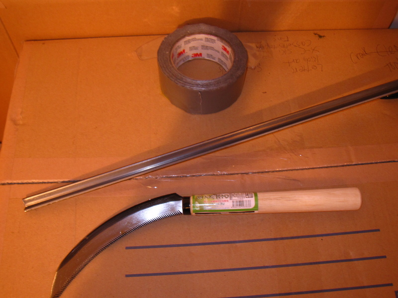 Simple reinforcement method. Use angle-iron (or aluminum) and duct tape. (Not shown, but even better: add another section of dowel to make the handle twice as long.)