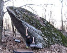 Rock Climbing Photo: Travis on Equinox Arete