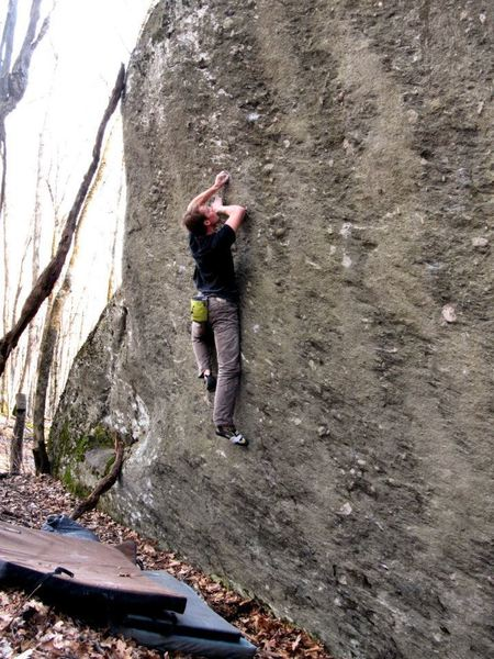 """Travis on the 2nd ascent of """"Never Have I Ever"""""""