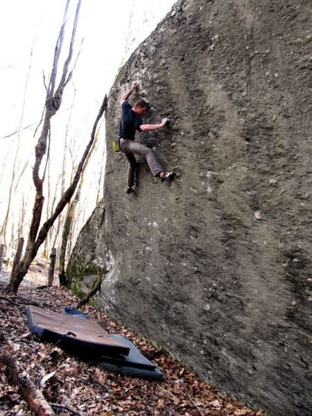 "Travis on the 2nd ascent of ""Never Have I Ever"""