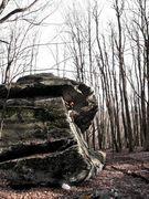 Rock Climbing Photo: Travis running a lap on Luminary